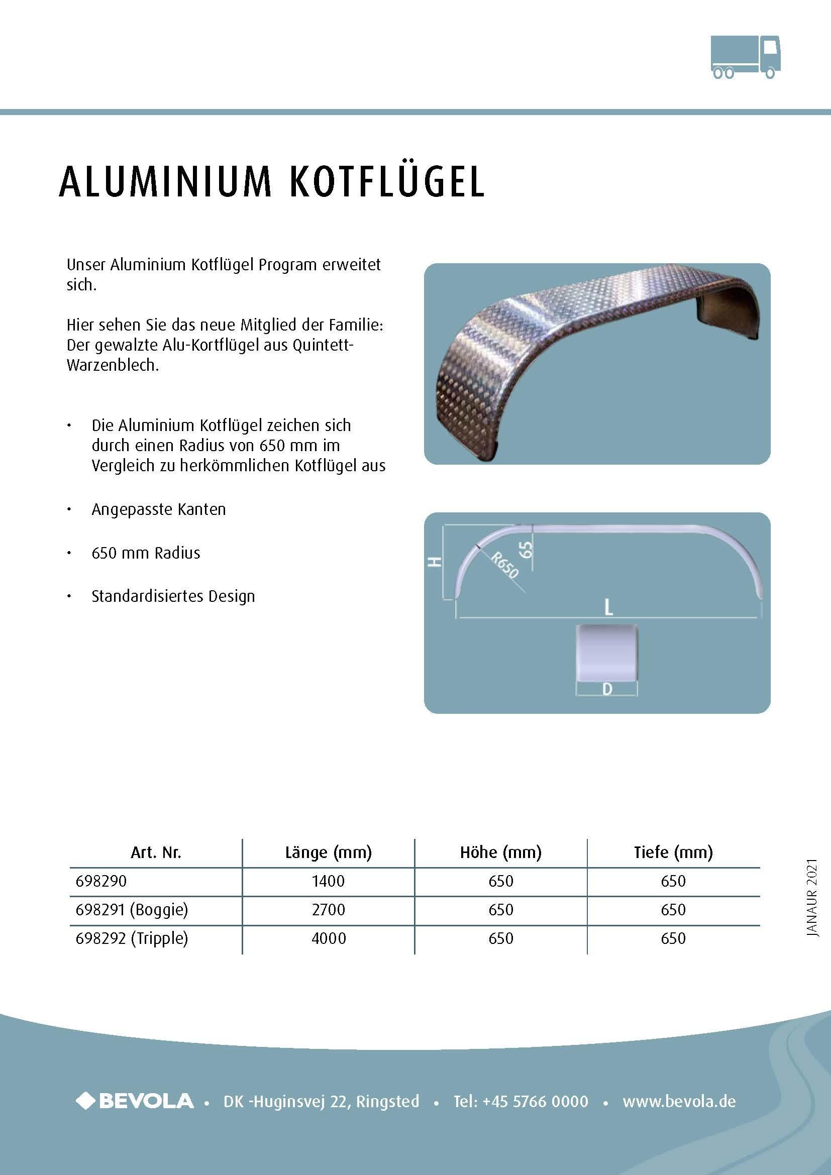 Aluminium-Kotflügel